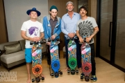 Red Hot Chili Peppers longboards